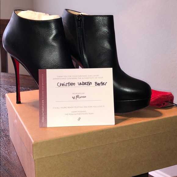6621fb29c0d6 Christian Louboutin Shoes - Louibotin Heeled booties Excellent Condition  39.5